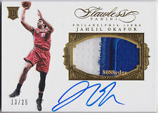 2015-16 FLAWLESS PATCH RC AUTO: JAHLIL OKAFOR #13/25 ON CARD ROOKIE AUTOGRAPH
