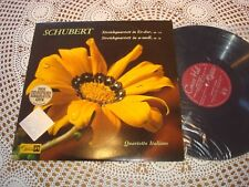 Schubert String Quartets QUARTETTO ITALIANO Swiss TURICAPHON LP SMS-2417 NM