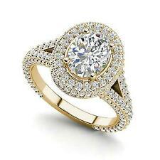 3.1 Carat Round Cut Diamond Engagement Ring Vs2 F