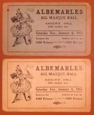 1913 Albemarles Big Masque Ball Tickets Chicago Kaiser Hall Archer Ave B4S1