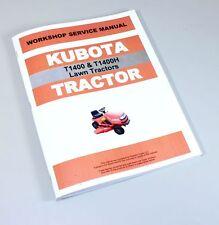 Heavy equipment manuals books for kubota ebay kubota t1400 t1400h lawn tractor workshop service manual shop repair book sciox Images