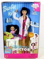 NIB BARBIE DOLL 2000 CHILDREN'S DOCTOR BARBIE AND KELLY ASIAN DR.