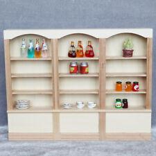 1:12 Dollhouse Triple Bookcase Mini Furniture Accessories Display Cabinet