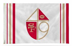 San Francisco 49ers Flag Banner 3x5 Retro Design Premium Outdoor House Football