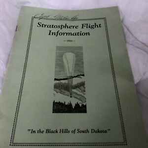 RARE VINTAGE 7 Piece 1935 Stratosphere Flight Set Of CPT George W Busbey MUSTSEE