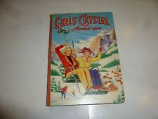 GIRLS' CRYSTAL ANNUAL - Year 1960 - UK Annual - (With Price Tag Intact)