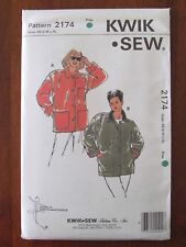 KWIK SEW PATTERN - 2174 LADIES LOOSE JACKET FRONT BUTTONS  XS-XL PLUS SIZE UNCUT