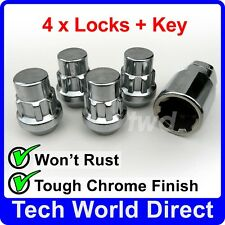 WHEEL LOCKING NUTS FORD MUSTANG (2015+) ALLOYS S550 CHROME LUG BOLTS STUDS [i0b]