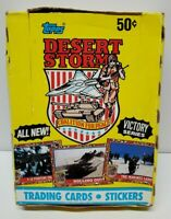 Vintage Topps Desert Storm Trading Cards 1991 Full Set Box 36 packs Victory USA