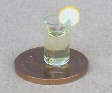 1:12 Scale Glass Of Drink And A Slice Of Orange Tumdee Dolls House Pub Accessory