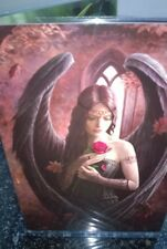 Anne Stokes Greetings Card with Envelope -  Angel Rose Black Wings & Dress