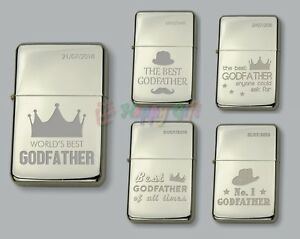 GODFATHER  Personalised  Petrol Lighter  FREE Engraved  Gift