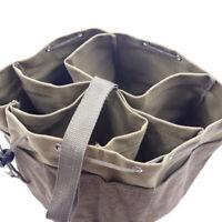 Tool Organizer Large Tool Bag w/ 17 Slot Work Toolbag Heavy Duty Khaki Organizer
