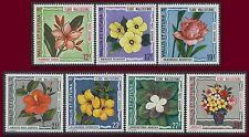 WALLIS ET FUTUNA PA N°49/55** Fleurs TB, 1973 Flowers MNH
