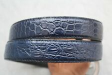 Luxury Dark Blue Genuine Alligator, Crocodile Leather Skin Men's Belt