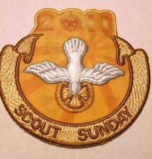 BOY SCOUTS PATCH BADGE Scout Sunday 2011 Dove Religious God Christian gold