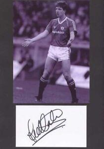 Lee Martin - Man Utd - Signed Photo & Index Card - COA (14882)