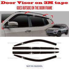 ⭐6pcs⭐ Window Door Visor Vent Shade Rain Guard fits Jeep Compass 2017-2020