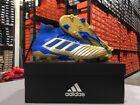 Adidas Men's Predator 19.1 FG Soccer Cleats (Gold/Blue) Size: 6.5-13 NEW!