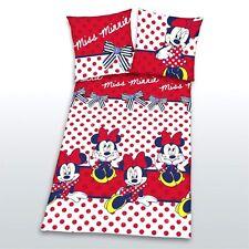 Herding Linge de lit Minnie Mouse 80 x 80 cm / 135 x 200 cm 100% Coton