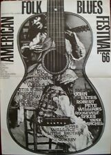 AMERICAN FOLK AND BLUES 1966 German A0 (33x47) concert poster GUNTHER KIESER