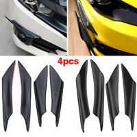 4PCS Universal Front Bumper Lip Splitter Fin Body Spoiler Canards Splitters Trim