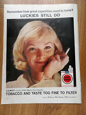 1960 Lucky Strike Cigarette Ad  Remember how Great Cigarettes Used to Taste?