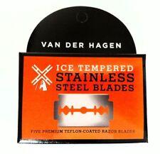 Van Der Hagen Stainless Steel Safety Razor Blades 5 Blade Packs Free Shipping