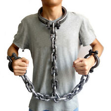 "Halloween Props Prisoner Shackles ""Iron Chain"" Plastic Bracelet Anklets Toys New"