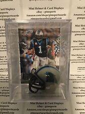 Cam Newton Carolina Panthers Mini Helmet Card Display Collectible Case QB Auto