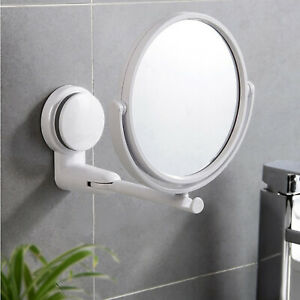 Wall Mounted Makeup Mirror - Single or Double Sided Mirror for Bathroom, 6 inch
