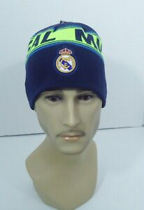 Real Madrid FC BEANIE Soccer Sports Cap Knit Hat Reversible New