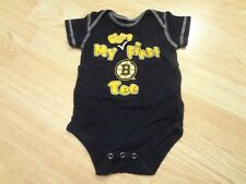 "Infant/Baby Boston Bruins 12 Mo Creeper ""My Very First Bruins Tee"" (Black)"