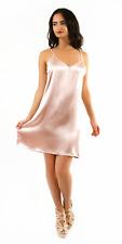 SAVE $20 Satin Slip Dress   Spaghetti Strap S M L Black Gold Pink Love J TA18131