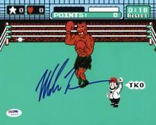 Mike Tyson Boxe Assinado autêntico 8X10 Punch Out Foto Autografada Autenticador de esportes profissionais/DNA Itp