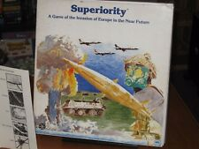 Superiority by Yaquinto (1981) - Vintage Wargame - Complete and Unpunched