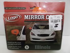 ILLINOIS UNIVERSITY FIGHTING ILLINI MIRROR COVERS CARS, SMALL SUV's NEW