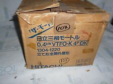 Hitachi 0.4kW VTFO-K 4P 3ph induction motor 0.4kWVTFO-K 4P NEW