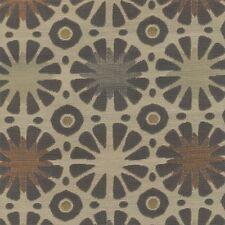 Momentum Santa Fe Charcoal gray, beige, modern circles HEAVY Upholstery Fabric