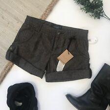 Sanctuary Brown Tweedy Shorts Size 25 Cuffed
