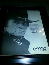 Johnny Cash Rare Original1982 ASCAP Promo Poster Ad Framed!