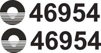New Canal and River Boat Trust Number | Vinyl Sticker | 2 off  FREE POST | BB218