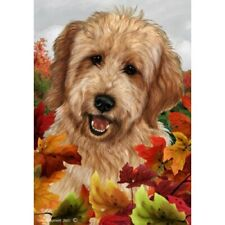 Fall House Flag - Red Goldendoodle 13270