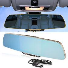 "5"" 1080P Rear View Mirror Monitor In-Car Dash Cam Recorder Camera Dual lens F3C"