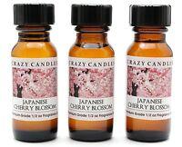 3 Japanese Cherry Blossom 1/2oz Premium Grade High Fragrance Oil Crazy Candles