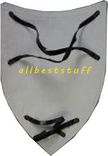 Crusader's shield 13th cent., primed + unpainted, Medieval wooden shield 8 mm