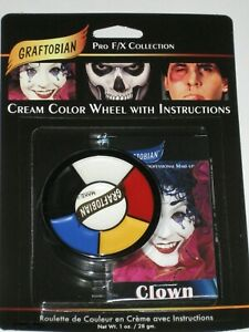 Graftobian _Professional Makeup Clown Wheel w/Instructions_Pro F/X Collection !!