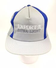 Export 'A' Hat  Extra Light Cigarettes Truckers Snap Back Grey Blue Vintage