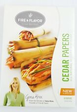 Fire & Flavor Cedar Grilling Papers All Natural For Grills & Stove Tops 8ct New