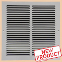 """12x12"""" Air Return Vent Cover Duct Size Grille Steel Wall Sidewall Ceiling White"""